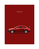 Mitsubishi Lancer Evolution X Giclee Print by Mark Rogan
