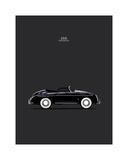 Porsche 356 Speedster Black Giclée-Druck von Mark Rogan