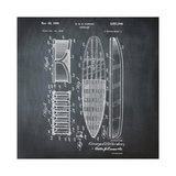 Surfboard, 1948-Chalkboard Giclee Print by Bill Cannon