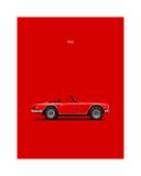 Mark Rogan - Triumph TR6 Red - Giclee Baskı