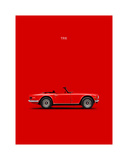 Triumph TR6 Red Giclee Print by Mark Rogan