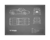 Mark Rogan - Triumph TR2-Grey - Giclee Baskı