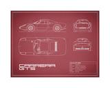 Porsche Carrera GTS-Maroon Giclee Print by Mark Rogan