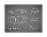 Toyota GT2000-Grey Giclee Print by Mark Rogan