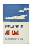 Quickest Way by Air Mail Prints by Edward McKnight Kauffer