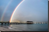 Rainbows at Hanalei Stretched Canvas Print by Daniel Burt
