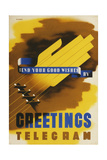 Send Your Good Wishes by Greetings Telegram Posters by Abram Games