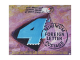 Don't Annoy Your Friends Abroad by Under-Stamping, 4D Minimum Foreign Postage Art by Hans Unger