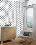 Modern Trellis Peel and Stick Wall Decor Adhésif mural