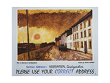 Please Use Your Correct Address Prints by George Chapman