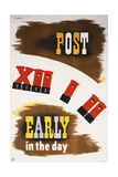 Post Early in the Day Prints by Abram Games