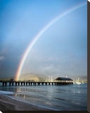 Rainbows at Hanalei II Stretched Canvas Print by Daniel Burt