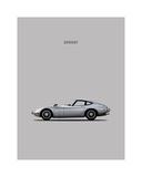 Toyotta 2000GT Grey Giclee Print by Mark Rogan