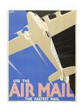 Air Mails: Publicity Poster Plakat af F Newbould
