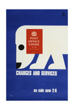 The 'Post Office Guide July 1968', Charges and Services, on Sale Now 2'6 Plakater af Tom Eckersley