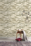 Natural Stacked Stone Peel and Stick Wall Decor Wall Decal