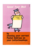 Speed Your Mail Posters by Harry Stevens