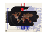 Air Mail Routes Posters by Edward McKnight Kauffer
