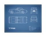 Triumph TR2-Blue Giclee Print by Mark Rogan