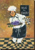 Hug the Chef Stretched Canvas Print by Vickie Wade
