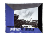 Outposts of Britain, a Postman in the Pool of London Prints by Edward McKnight Kauffer