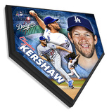 Clayton Kershaw Home Plate Plaque Framed Memorabilia