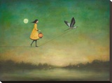 Blue Moon Expedition Stretched Canvas Print by Duy Huynh