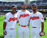 Francisco Lindor, Corey Kluber, & Danny Salazar 2016 MLB All-Star Game Photo