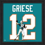 Bob Griese, Miami Dolphins - Framed photographic representation of the player's jersey Framed Memorabilia