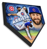 Jake Arrieta Home Plate Plaque Framed Memorabilia