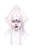 Queen of Diamonds Poster af Agnes Cecile