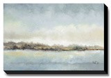 Calm Horizon Stretched Canvas Print by Tita Quintero