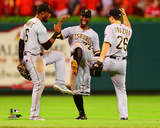 Starling Marte, Andrew McCutchen, & Adam Frazier 2016 Photo