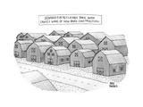 Demand for reclaimed barnwood causes wave of new barn construction - New Yorker Cartoon Premium Giclee Print by Amy Hwang