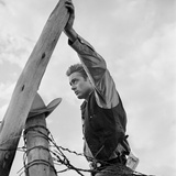 James Dean Hand on Post Set of Giant 1955 Photo by  Capital Art