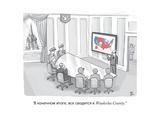 """""""...Waukesha County."""" - New Yorker Cartoon Premium Giclee Print by Paul Noth"""