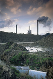 Pollution - Industrial Wasteland Avonmouth Near Bristol, UK Photographic Print by David Noton