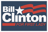 Bill Clinton For First Lady Grey Fan Sign Photo