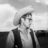 James Dean Right Profile in Cowboy Hat Set of Giant 1955 Photo by  Capital Art