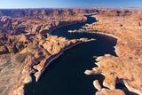 Aerial View of Lake Powell, Near Page, Arizona and the Utah Border, USA, February 2015 Photographic Print by Juan Carlos Munoz