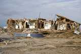 Damage Caused to Houses by Hurricane Katrina Photographic Print by John Cancalosi