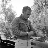 Steve McQueen and Wife Photo by  Capital Art