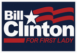 Bill Clinton For First Lady Navy Fan Sign Affiches