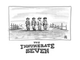 THE INNUMERATE SEVEN - New Yorker Cartoon Giclee Print by Paul Noth