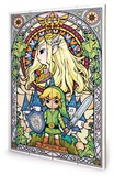The Legend Of Zelda - Stained Glass Targa di legno