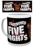Five Nights At Freddy's - I Survived Mug Tazza