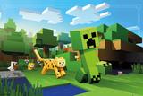 Minecraft- Ocelot Chase Plakaty