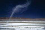 Salar Pujsa, Dust Devil, Atacama Desert, Chile Photographic Print by Rhonda Klevansky