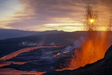 Fissure Eruption of Volcan Chico into 9Km Diameter Caldera Photographic Print by Tui De Roy