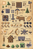 Minecraft- Craft Pictograph Stampa